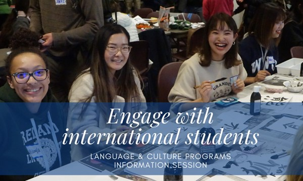 Engage with international students - info session