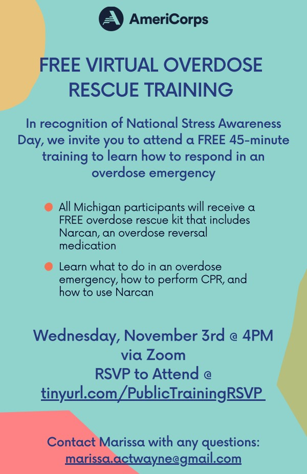 Free Virtual Overdose Rescue Training! [+1 Personal and Professional Development Event]