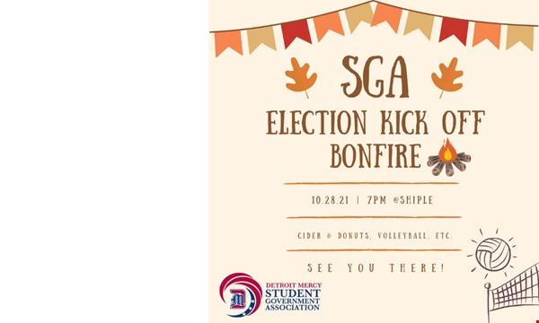 SGA Election Kick Off Bonfire